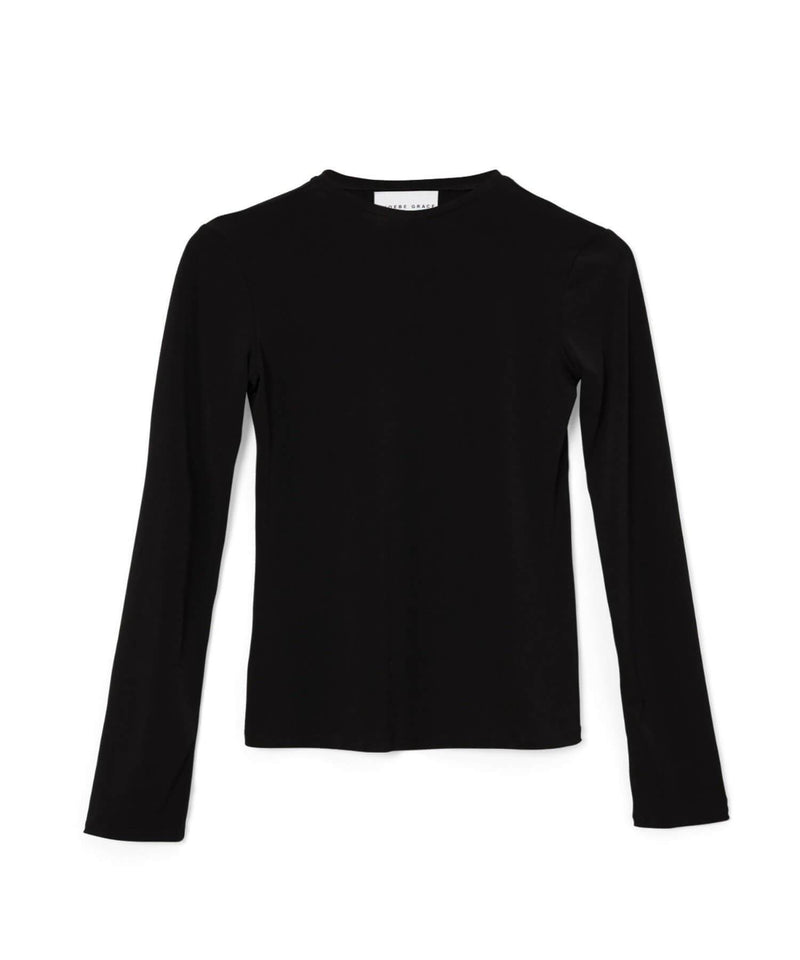 PHOEBE GRACE Tops NANA Jersey Crew Neck Top