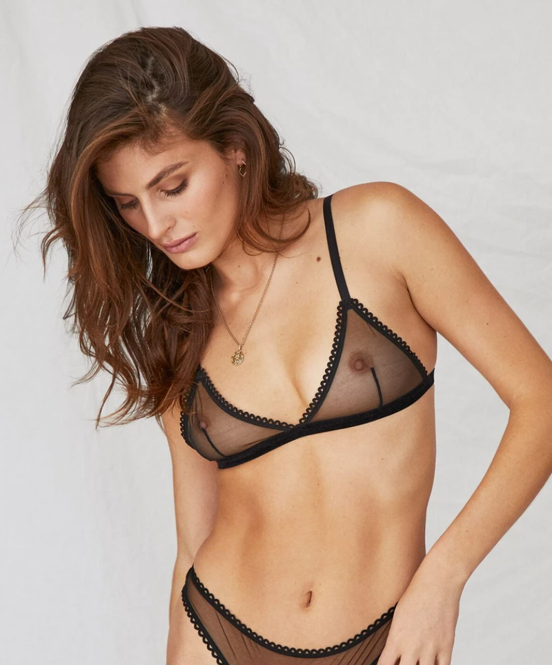 Saturday the Label Lingerie black / 1 Black Sunday soft-cup bralette