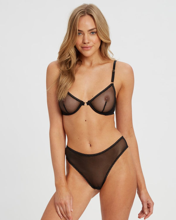 Saturday the Label Lingerie Black Lover Underwire Bra