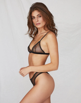 Saturday the Label Lingerie Black Sunday soft-cup bralette