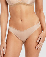 Saturday the Label Lingerie Gold Dahlia G-string