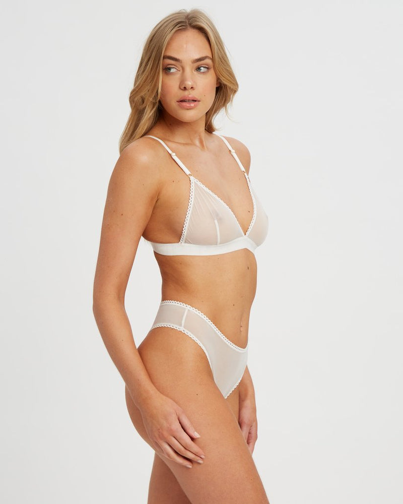 Saturday the Label Lingerie White Sunday Bralette