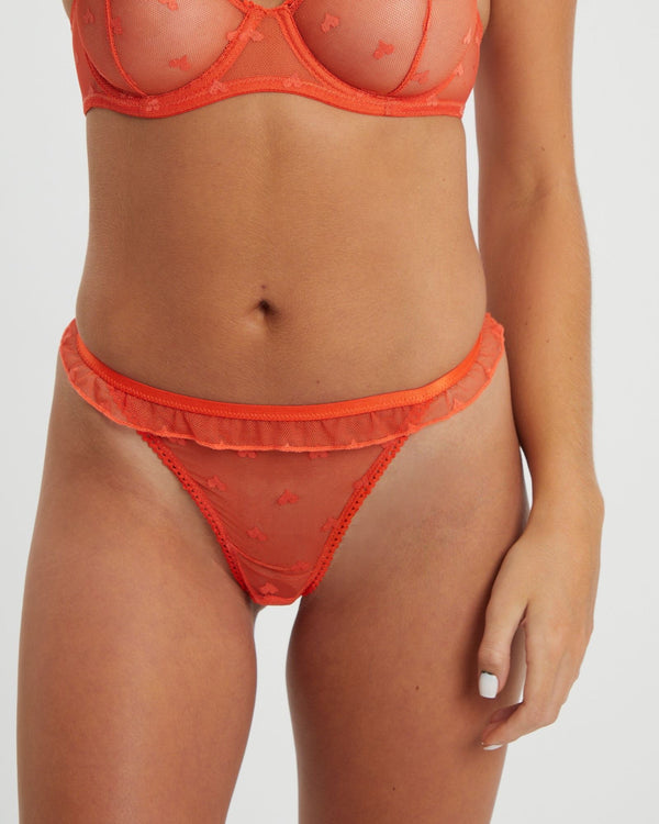 Saturday the Label Thong Valentine Thong - Orange