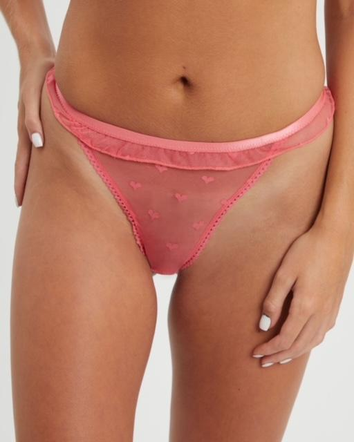 Saturday the Label Thong Valentine Thong - Pink