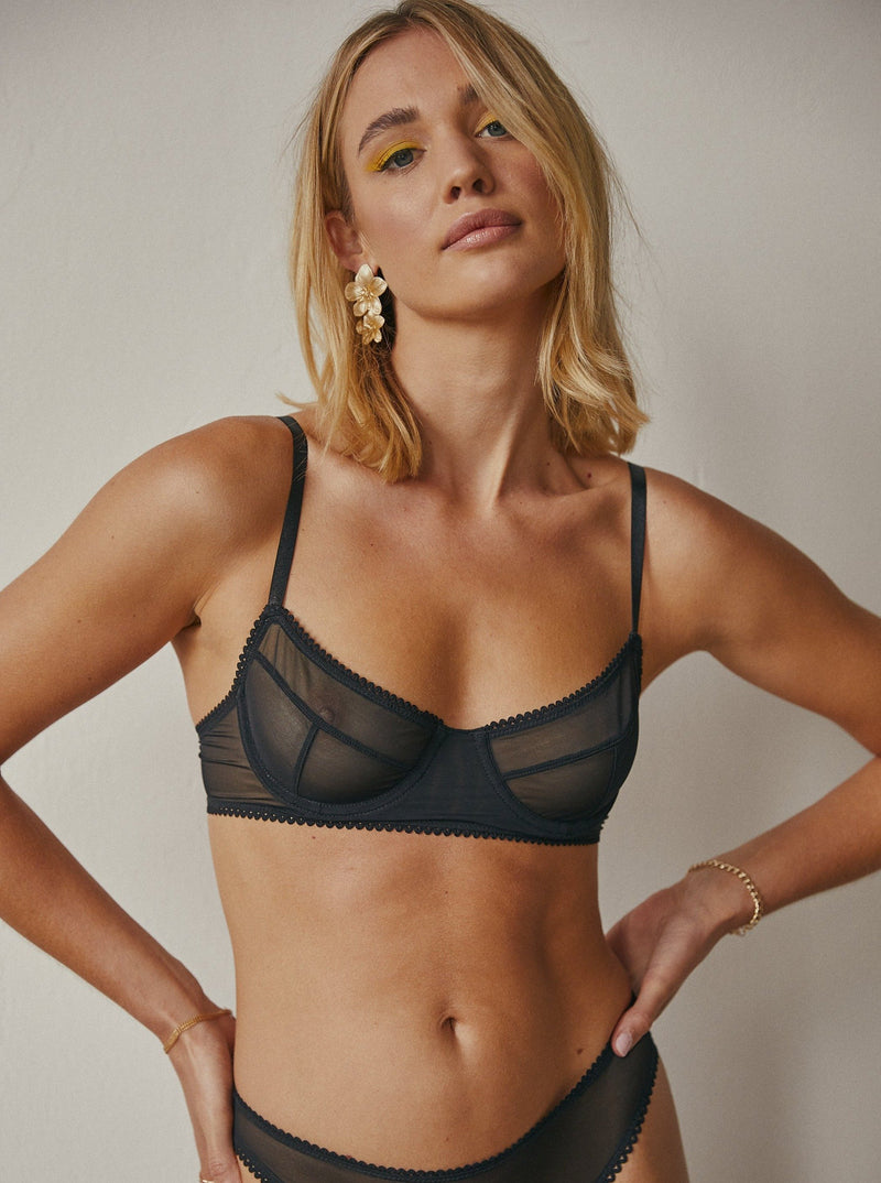 Saturday the Label Underwire Bra 1 / Black Dylan Underwire Bra