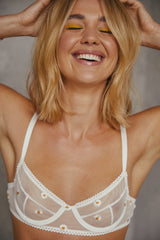 Saturday the Label Underwire Bra 1 / White Daisy Underwire Bra