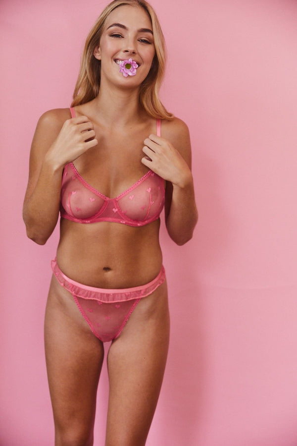 Saturday the Label Underwire Bra Valentine Underwire Bra - Pink