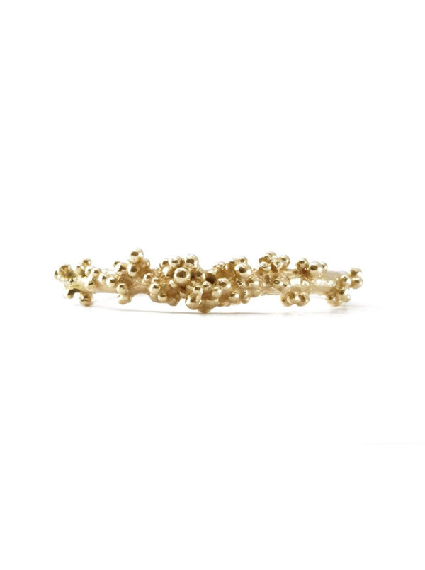 Shiran Salem Jewelry Gold band with Granules
