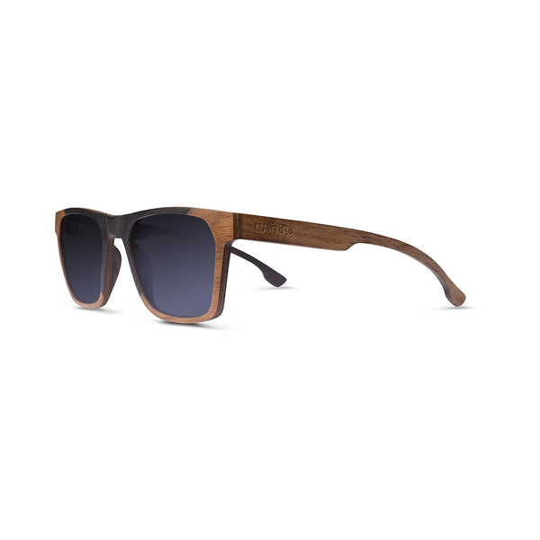 shopwoodie Sunglasses Ebony and Walnut / Black / 46*21*143 mm Peak