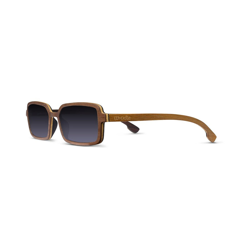 shopwoodie Sunglasses Walnut Wood / Black / 42*22*143 mm Peace