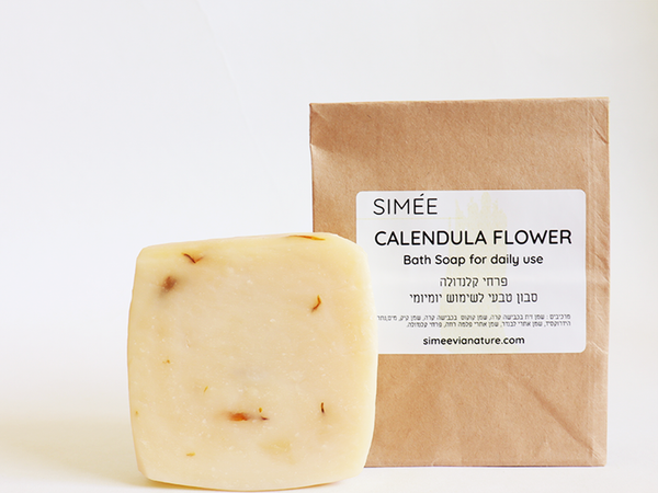 simeevianature Soaps Calendula Flowers Soap Bar