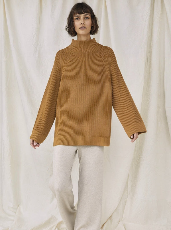The Knotty Ones Sweaters Camel / One Size Milda Turtleneck