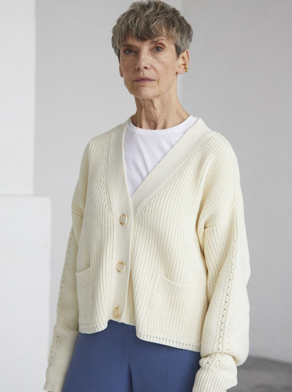 The Knotty Ones Sweaters Sea Salt / S/M Preila Cardigan