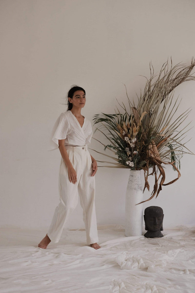 The Wylde Pants White Lucette Pant