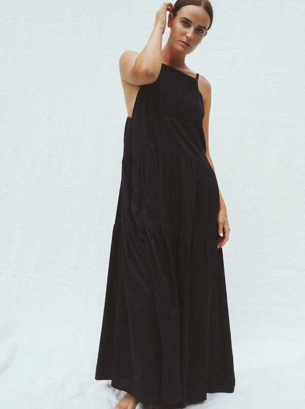 UNIK by us Dress 0 Black Austen Tiered Maxi Dress