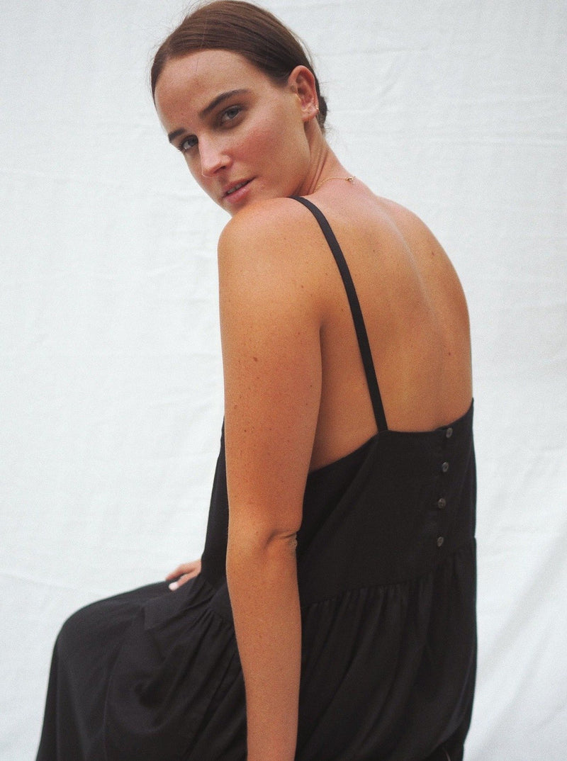 UNIK by us Dress Black Austen Tiered Maxi Dress