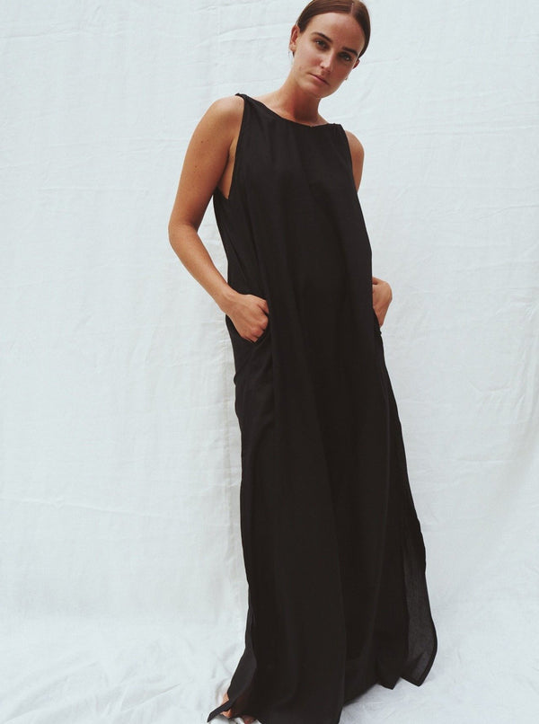UNIK by us Dress Black Emily Low Back Maxi Dress