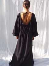UNIK by us Dress Black Kaspara Billowed Sleeve Dress