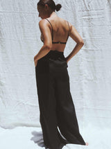 UNIK by us Pants Black Jonathan Wide Leg Linen Pants