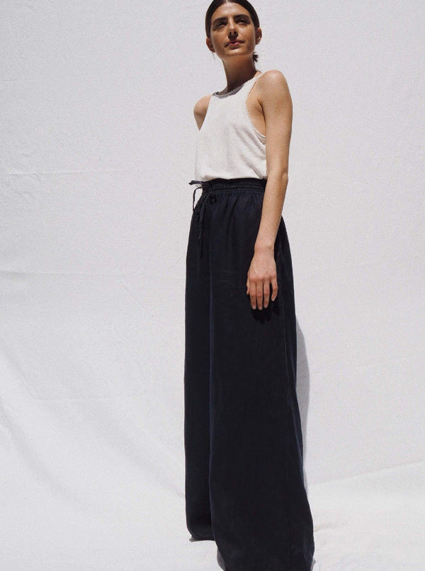 UNIK by us Pants Indigo Jonathan Wide Leg Linen Pants
