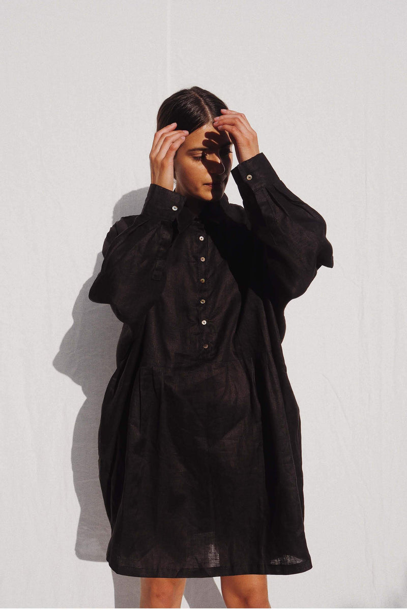 UNIK by us Shirt one size Black Byron Oversized Linen Shirt