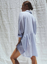 UNIK by us Shirt One size Light Blue Pinstripe Byron Oversized Cotton Shirt