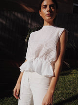 UNIK by us Top White Melissa Sleeveless Blouse