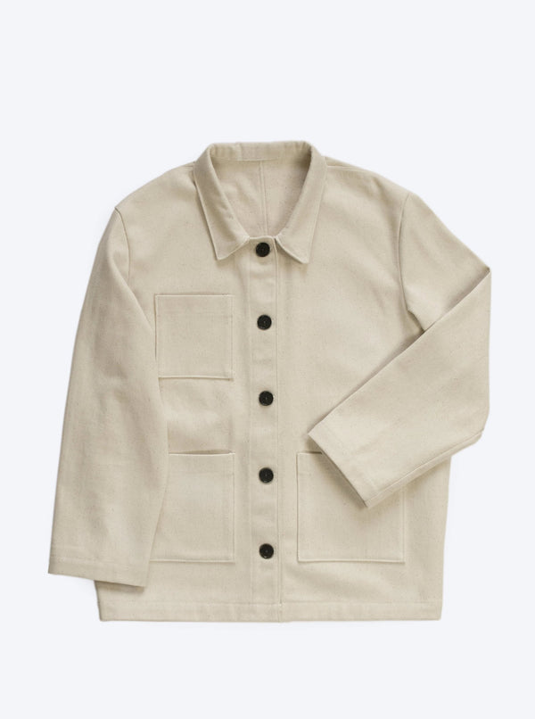 Veryan Jackets Cream / 34 Cream Denim Workwear Jacket