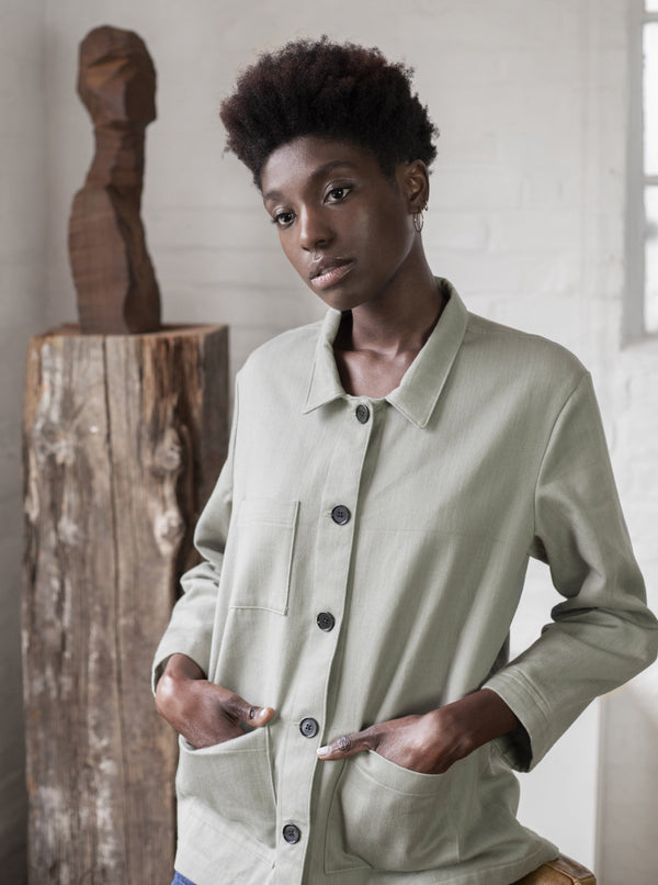 Veryan Jackets Green / 34 Green Denim Workwear Jacket