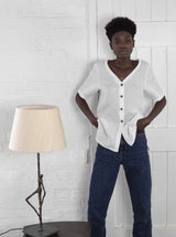 Veryan Shirts White Basic Linen Shirt