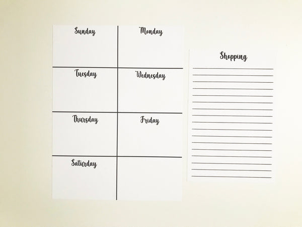 Wall Dot Weekly + Shopping List
