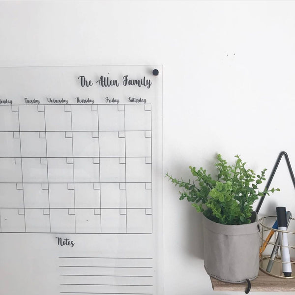 Classic Monthly Wall Planner (personalised)