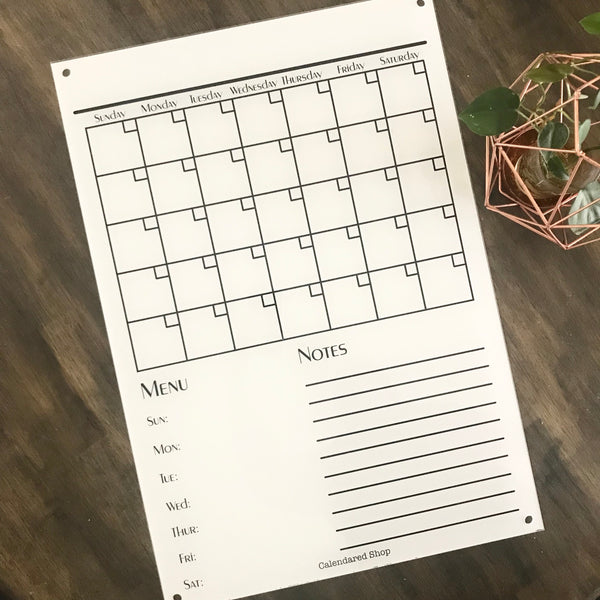 WHITE Classic Monthly Wall Planner (basic)