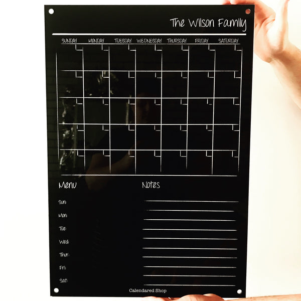 BLACK Classic Monthly Wall Planner (personalised)
