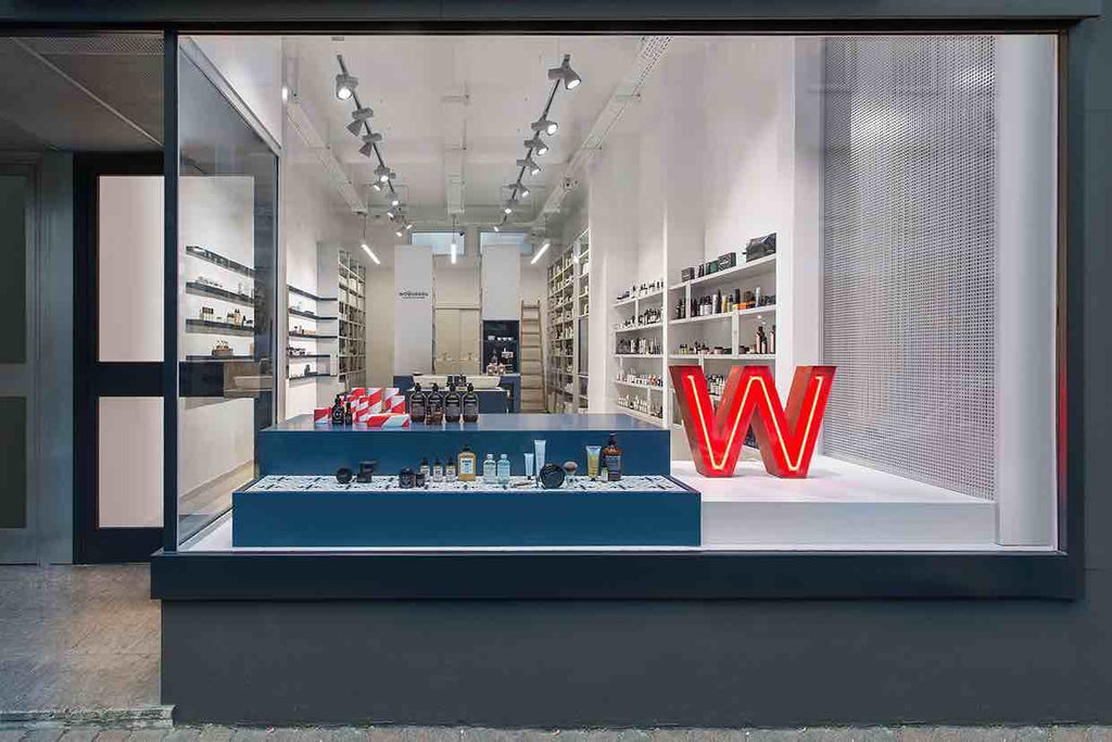 front of Woodberg concept store in Germany