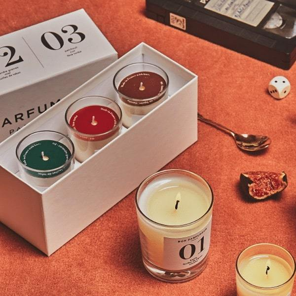 Mini Candle Set: 01, 02, 03 candle Bon Parfumeur