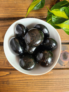 Medium Black Tourmaline Palm Stones