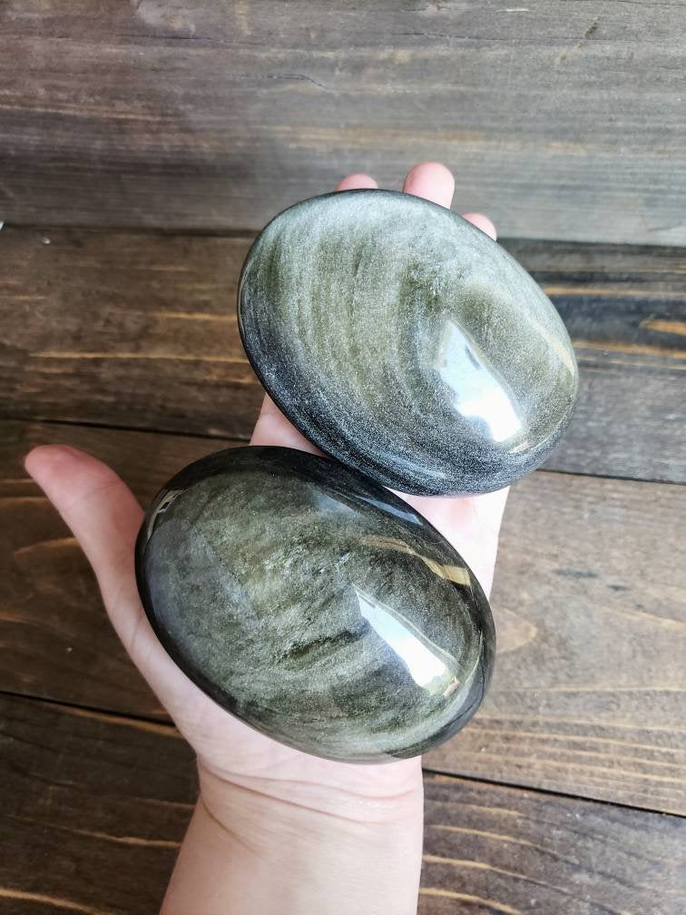 Jumbo Gold Sheen Obsidian Palm Stones