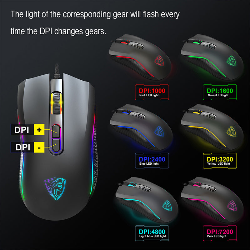 GTRACING Gaming Mouse RGB for Windows 7/8/10/XP Vista - GTRACING