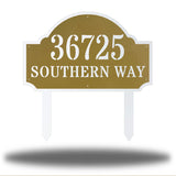 Coastal Deluxe Address Sign - Go Riverside Designs