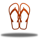 Copper steel flip flops-shaped wall decor