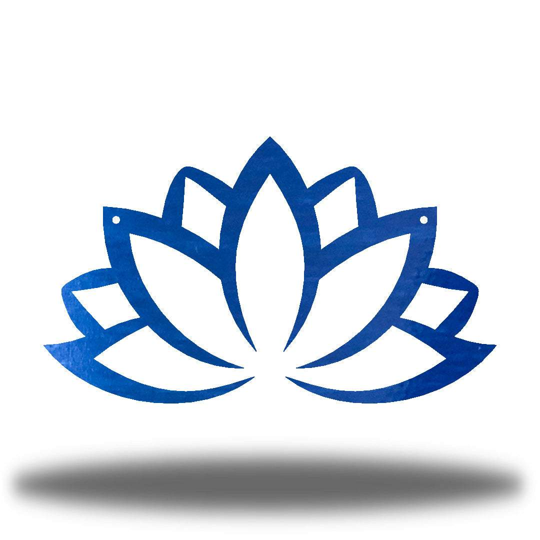 Blue lotus flower-shaped wall decoration