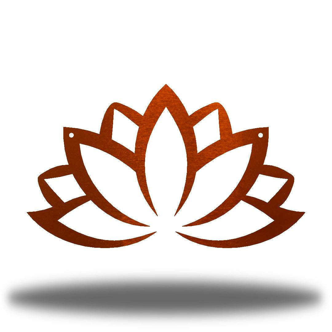 Copper lotus flower-shaped wall decoration