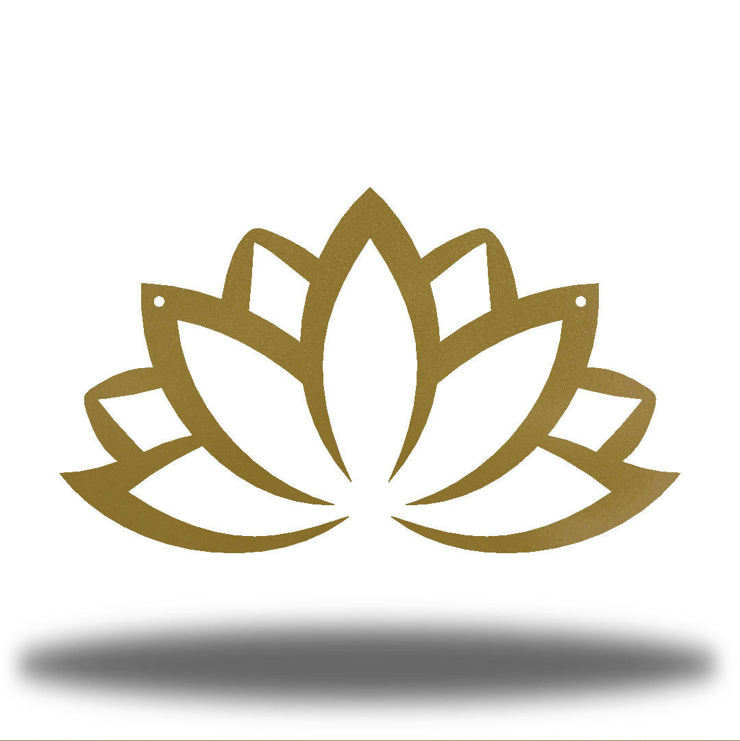 Gold lotus flower-shaped wall decoration