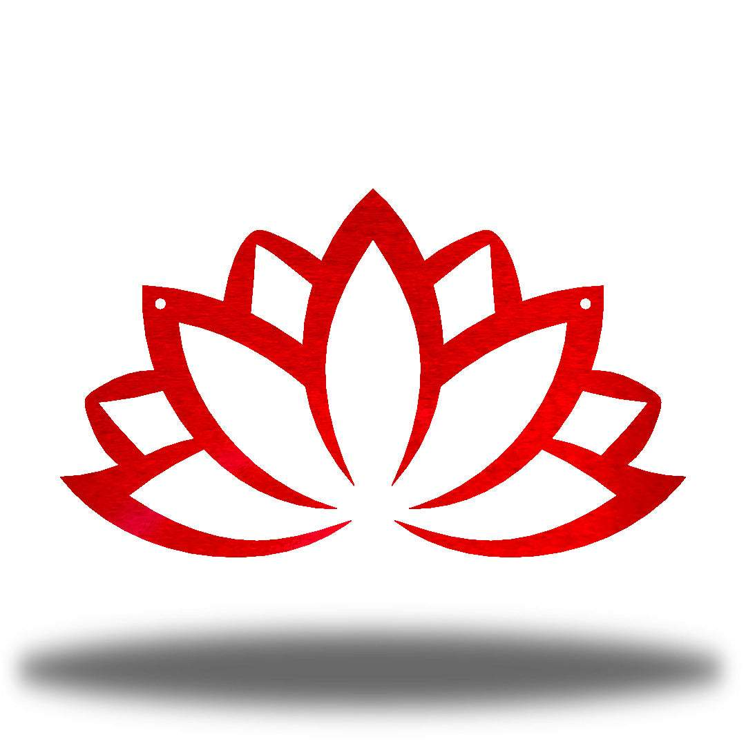 Red lotus flower-shaped wall decoration