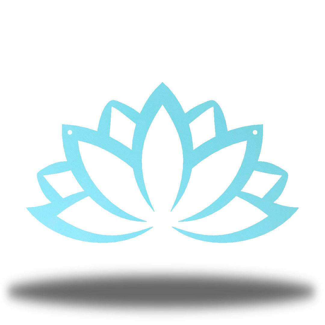 Light blue lotus flower-shaped wall decoration