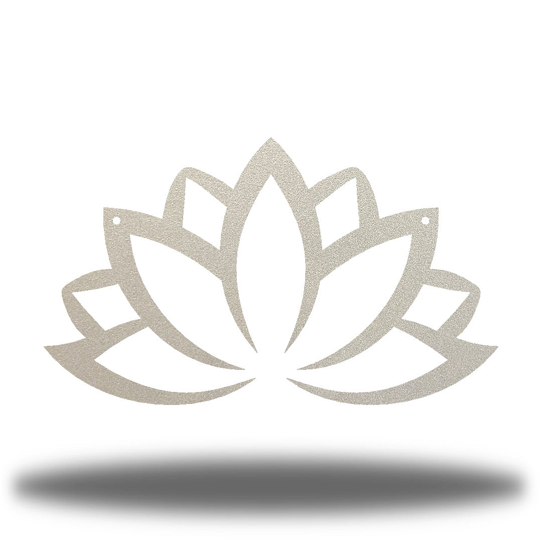 Silver lotus flower-shaped wall decoration