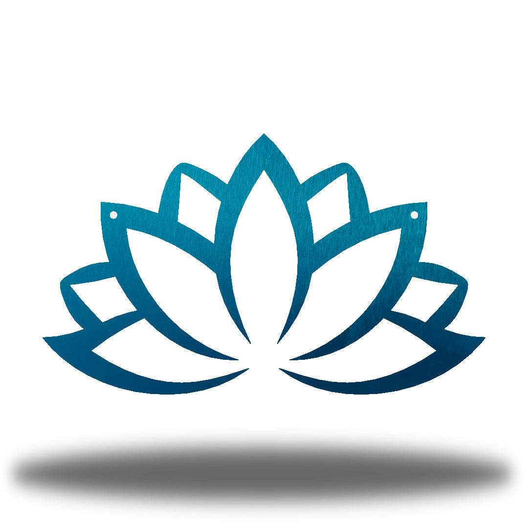 Teal lotus flower-shaped wall decoration