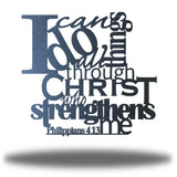 "Black typographic design wall decoration that says ""I can do all things through Christ who strengthns me PHilippians 4:13"""