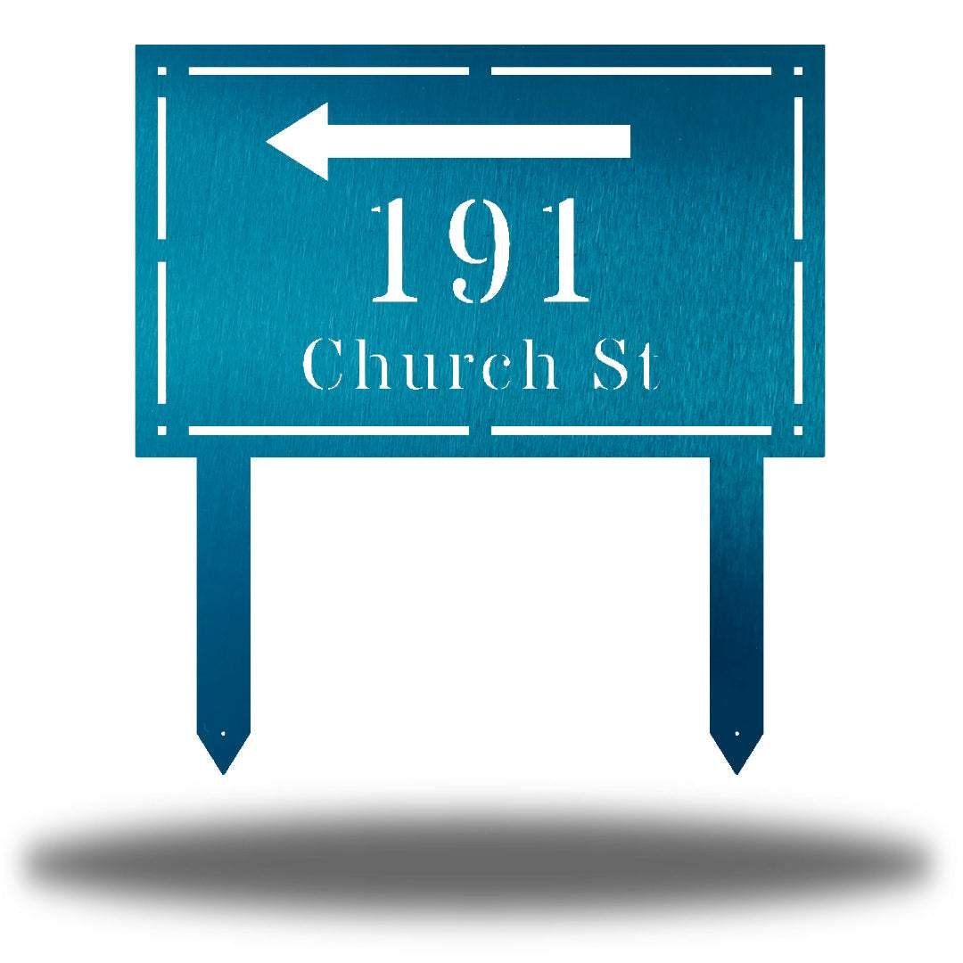 Rectangle Arrow Address Sign